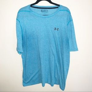 Teal Under Armour Loose Fit Heat Gear T-Shirt